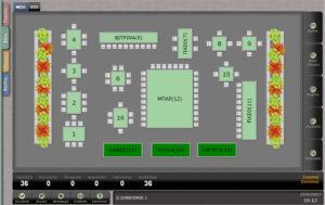 Ενδεικτική εικόνα διάταξης τραπεζιών σε tablet ή pos